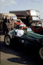 HWM Lance Macklin 1952 Silverstone paddock Rare colour photo. 10x7""